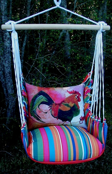 Le Jardin Rooster Hammock Chair Swing Set - Click to enlarge