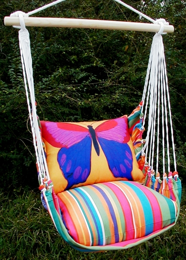 Le Jardin Yellow Butterfly Hammock Chair Swing Set - Click to enlarge