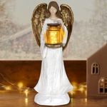 LED Angel w/Jar of Fireflies - Battery Powered