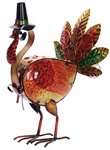 LED Glass Turkey Statue