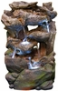 LED Rainforest Cascading Streams Outdoor Fountain