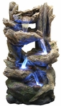 LED Rainforest Flowing Falls Outdoor Fountain