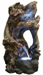 LED Rainforest Hollowed Tree Outdoor Fountain