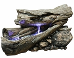LED Rainforest Horizontal Waterfall Outdoor Fountain