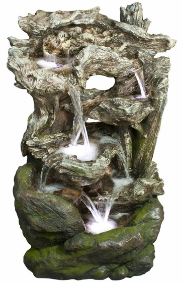 LED Rainforest River Falls Outdoor Fountain - Click to enlarge