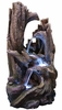 LED Rainforest Twisted Trunks Outdoor Fountain