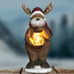 LED Reindeer w/Jar of Fireflies - Battery Powered