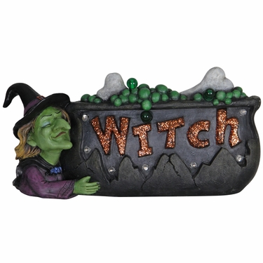 LED Witch Cauldron Marquee w/Timer - Click to enlarge