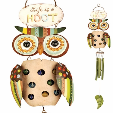 Life is a Hoot Wind Chime - Click to enlarge
