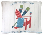Life is Better on the River Outdoor Pillow