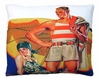 Lifeguard at Beach Outdoor Pillow