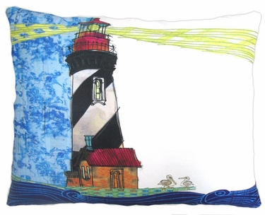 Lighthouse Beacon Outdoor Pillow - Click to enlarge