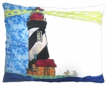 Lighthouse Beacon Outdoor Pillow