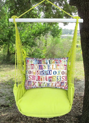 Lime Yellow Alphabet Hammock Chair Swing Set - Click to enlarge