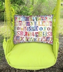 Lime Yellow Alphabet Hammock Chair Swing Set