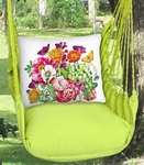 Lime Yellow Summer Bouquet Hammock Chair Swing Set