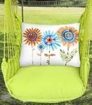 Lime Yellow Summer Sunflowers Hammock Chair Swing Set