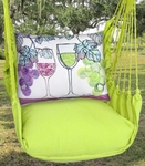 Lime Yellow Wine Glasses Hammock Chair Swing Set