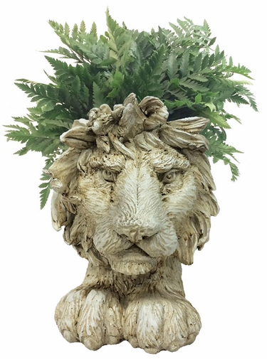 Lion Mascot Planter - Antique Finish - Click to enlarge