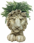 Lion Mascot Planter - Antique Finish