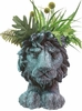 Lion Mascot Planter - Graystone Finish