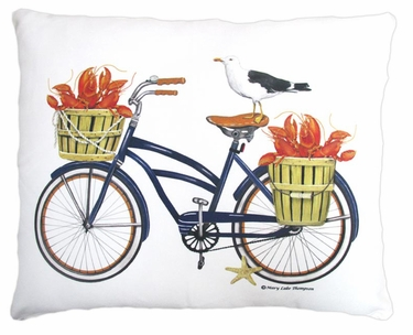 Lobster Delivery Outdoor Pillow - Click to enlarge