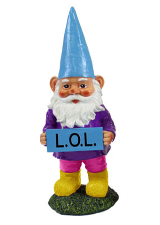 LOL Gnome Garden Statue - Click to enlarge