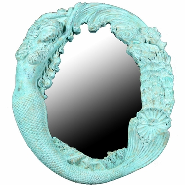 Long Hair Mermaid's Reef Mirror - Shipwreck Finish - Click to enlarge