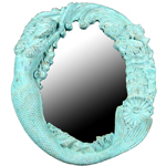 Long Hair Mermaid's Reef Mirror - Shipwreck Finish