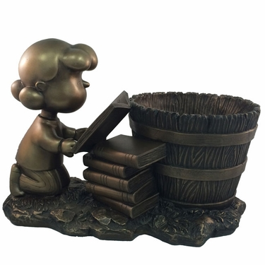 Lucy Bookworm Planter - Antique Bronze - Click to enlarge