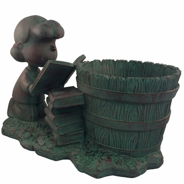 Lucy Bookworm Planter - Bronze Patina - Click to enlarge