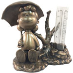 Lucy Rain Gauge - Antique Bronze