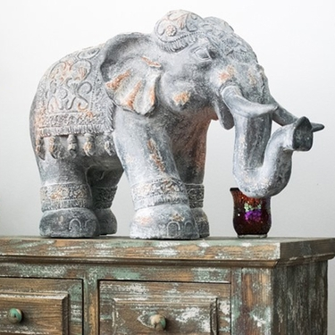 Magnesium Elephant Garden Decor - Click to enlarge