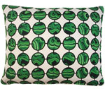 Malachite Green Outdoor Pillow