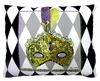 Mardi Gras Mask Outdoor Pillow