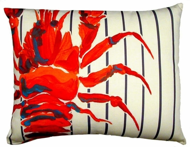 Marina Lobster Outdoor Pillow - Click to enlarge