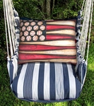Marina Stripe Baseball Flag Hammock Chair Swing Set
