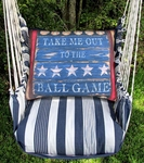 Marina Stripe Baseball Sign Hammock Chair Swing Set