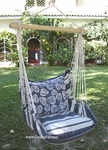 Marina Stripe Clamshell Hammock Chair Swing Set