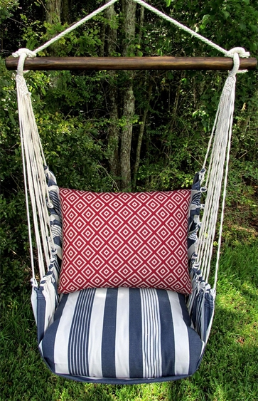 Marina Stripe Hip Squares Hammock Chair Swing Set - Click to enlarge