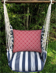 Marina Stripe Hip Squares Hammock Chair Swing Set