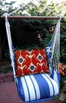 Marina Stripe Ikat Design Hammock Chair Swing Set