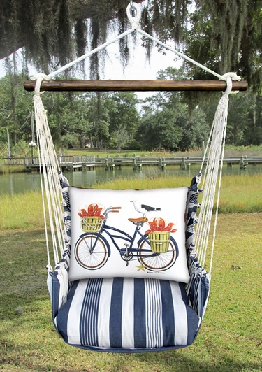 Marina Stripe Lobster Delivery Hammock Chair Swing Set - Click to enlarge