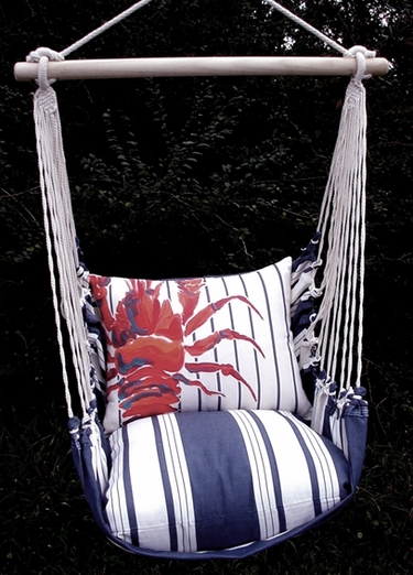 Marina Stripe Maine Lobster Hammock Chair Swing Set - Click to enlarge