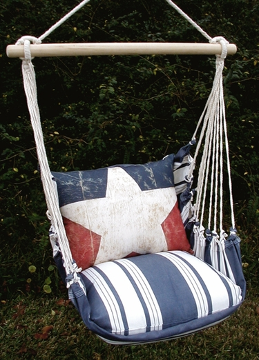 Marina Stripe Proud American Hammock Chair Swing Set - Click to enlarge
