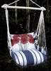 Marina Stripe Red Gerberas Hammock Chair Swing Set