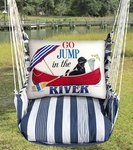 Marina Stripe River Jump Hammock Chair Swing Set