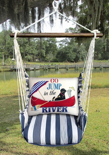 Marina Stripe River Jump Hammock Chair Swing Set - Click to enlarge