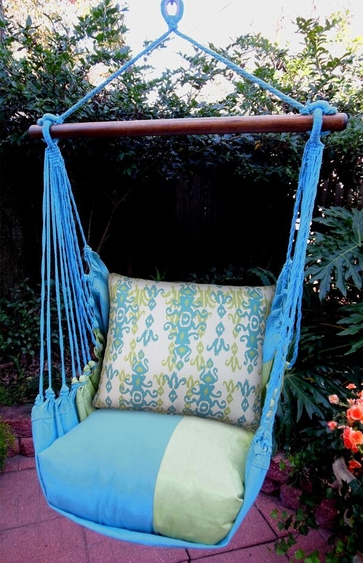Meadow Mist Blue Bejeweled Hammock Chair Swing Set - Click to enlarge