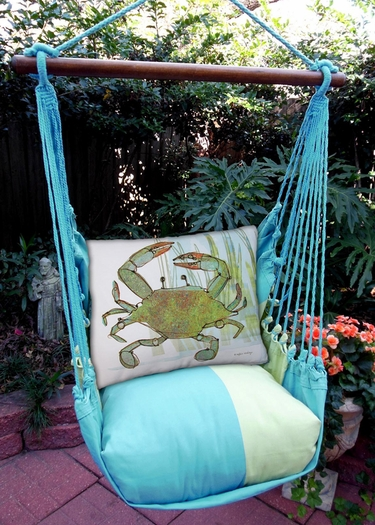 Meadow Mist Crab in Marsh Hammock Chair Swing Set - Click to enlarge